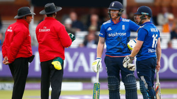 Controversy abounded at Lord's as Ben Stokes was given out obstructing the field