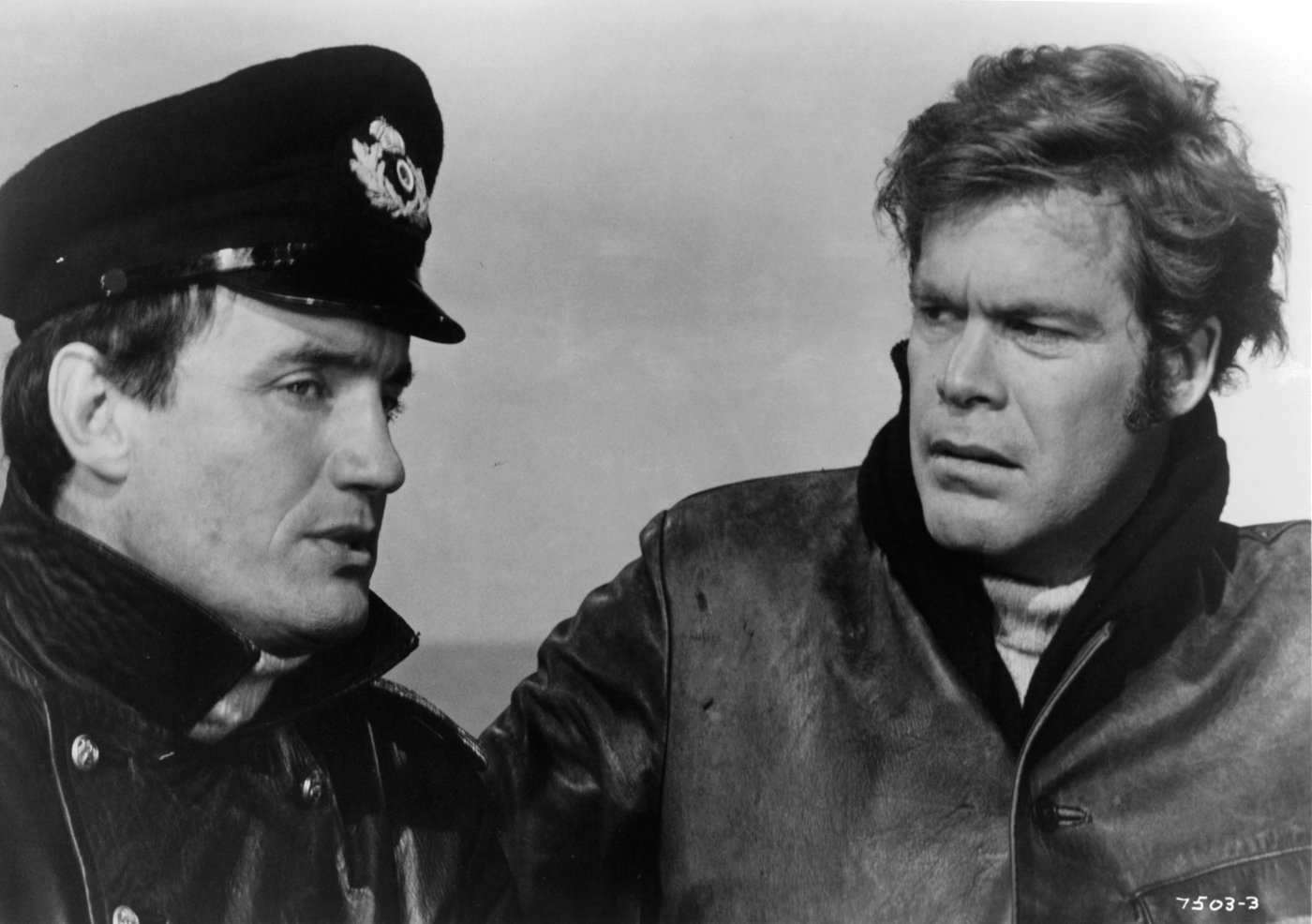 Anthony Ainley (left), with Doug McClure