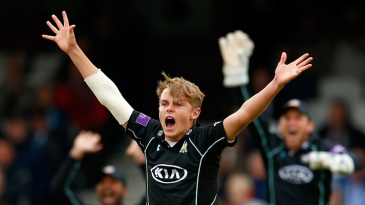 Sam Curran took two wickets of two balls in his first over