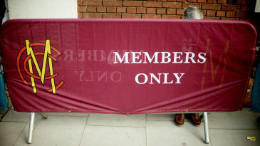 An MCC members only sign