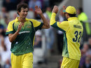 Ashton Agar claimed his maiden ODI wicket, England v Australia, 3rd ODI, Old Trafford, September 8, 2015