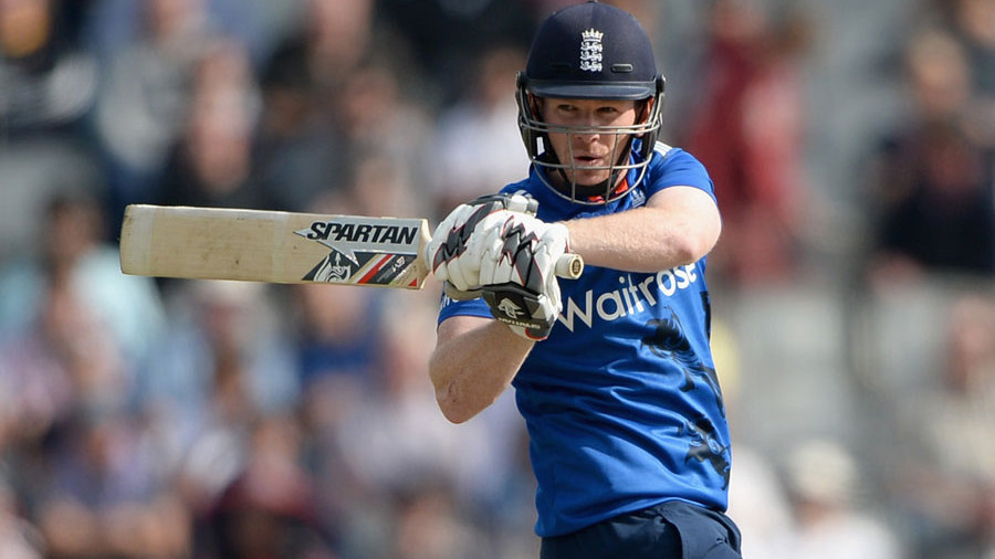 Eoin Morgan endured some difficult moments against Cummins' pace but soon got into his stride