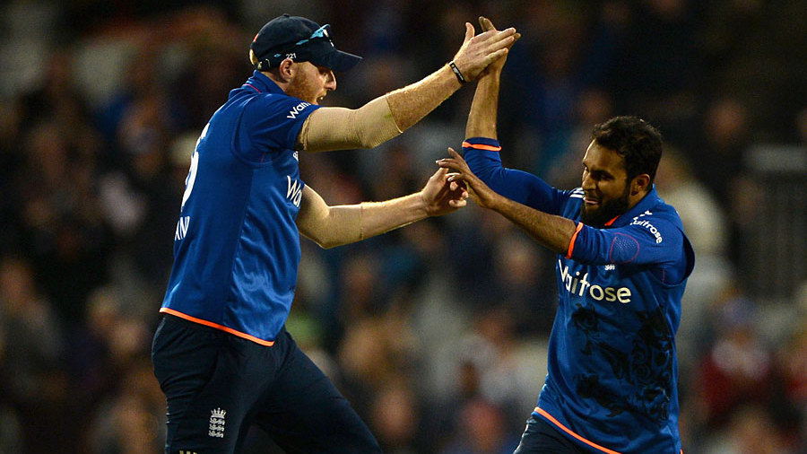 ...but he became Adil Rashid's second wicket during a demanding spell from the legspinner