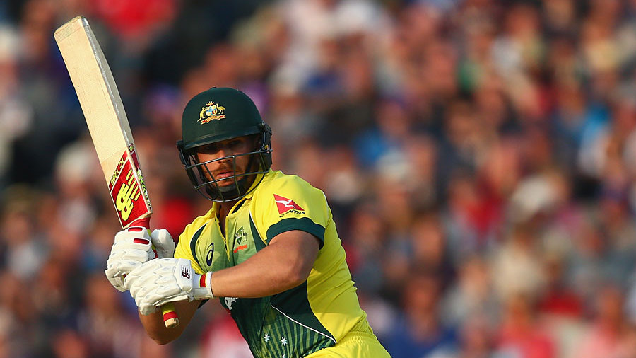 Aaron Finch was looking in good form, progressing to a half-century from 53 balls...