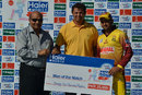 Khalid Usman was awarded the Man of the Match for his five-wicket haul, Abbottabad Region v Lahore Region Whites, Haier Mobile T-20 Cup, Group B, Rawalpindi, September 9, 2015
