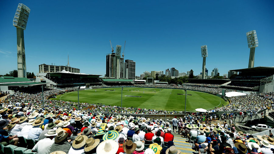 Spectators enjoy a day out at the WACA