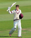 Tom Abell recorded his maiden first-class hundred, Hampshire v Somerset, County Championship, Division One, Taunton, 2nd day, September 10, 2015