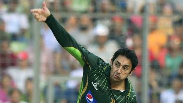 Saeed Ajmal bowls on his comeback