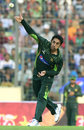 Saeed Ajmal bowls on his comeback, Bangladesh v Pakistan, 1st ODI, Mirpur, April 17, 2015