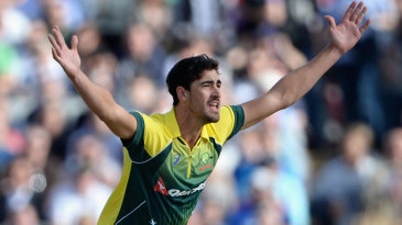 Mitchell Starc was twice successful with lbw appeals in his first over - but only the second stood