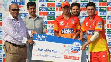 Imran Khan and Israrullah both shared the Man-of-the-Match award