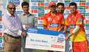 Imran Khan and Israrullah both shared the Man-of-the-Match award, Karachi Region Blues v Peshawar Region, Haier Mobile T20 Cup, Group B, Rawalpindi, September 13, 2015