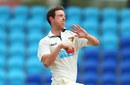 Andrew Fekete runs in to bowl, Tasmania v Victoria, Sheffield Shield 2014-15, 1st day, Hobart, November 8, 2014