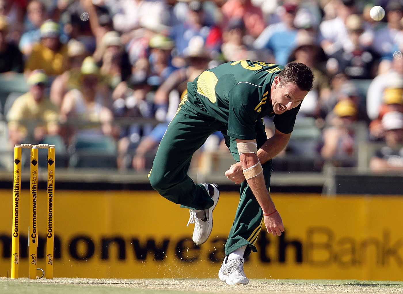 Never mind the action: Tait bowls as if his body might break in the middle of any given delivery