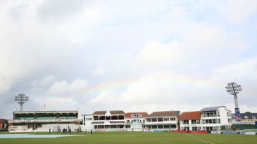 A rainbow over the Spitfire Ground at Canterbury
