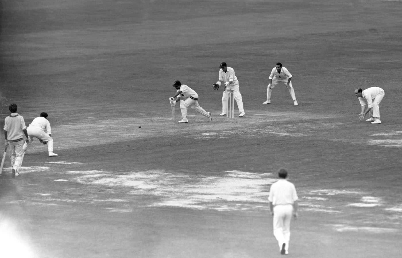 Close fields at backward short leg to Hanif Mohammad at Lord's, 1967