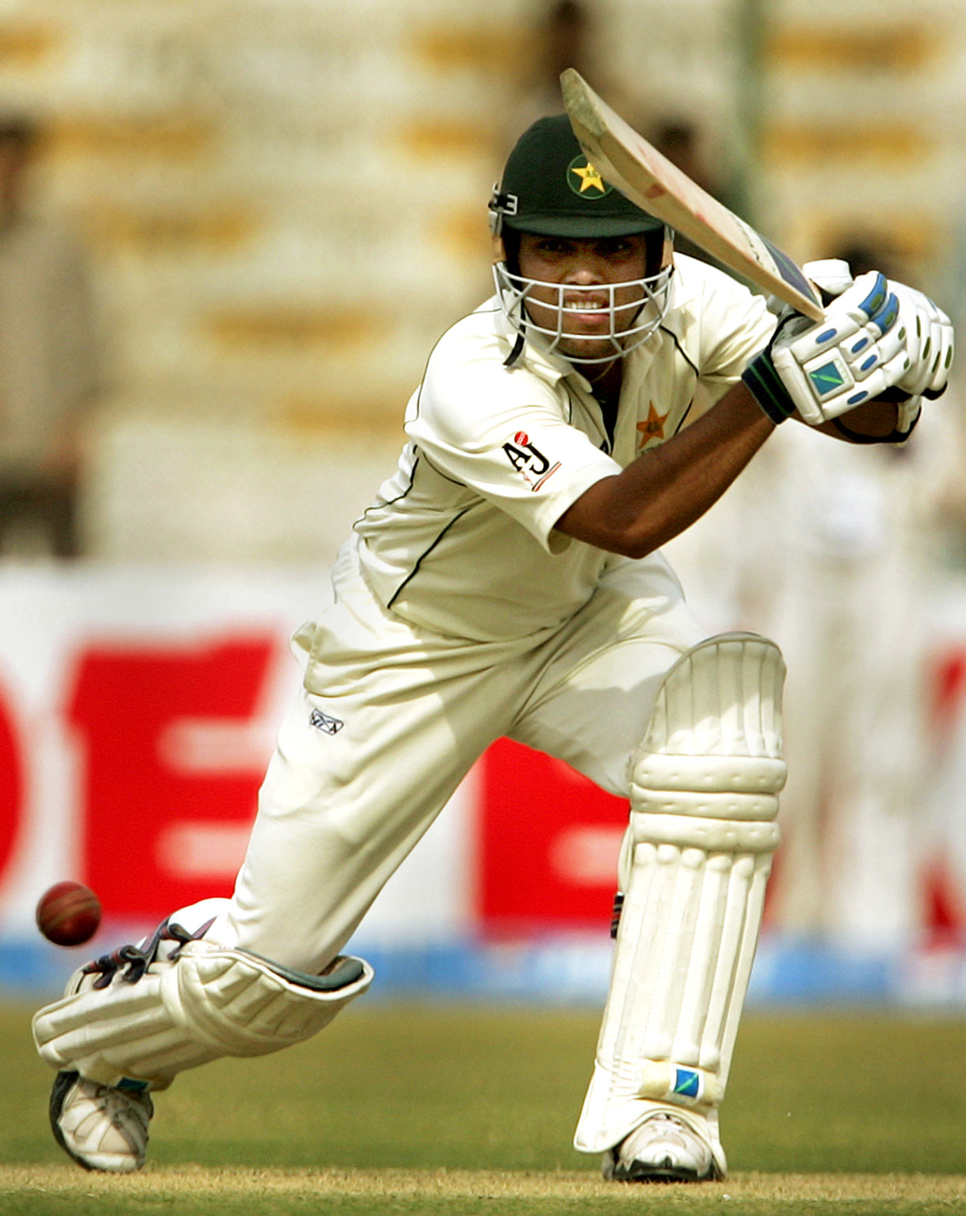 A geometrical progression: Akmal repeatedly drove through the covers during his Karachi century