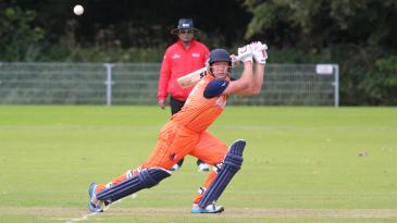 Roelof van der Merwe slashes one over backward point