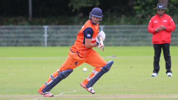 Pieter Seelaar darts for a single on the off side during his 68