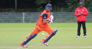 Pieter Seelaar darts for a single on the off side during his 68, Netherlands v Scotland, WCL Championship, Amstelveen, September 15, 2015