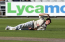 Zafar Ansari calls for the physio, Lancashire v Surrey, LV= County Championship, Division Two, Old Trafford, 2nd day, September 15, 2015
