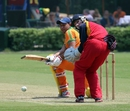 Babar Hayat in action against Hong Kong Cricket Club in the Hong Kong Premier League One-Day Tournament