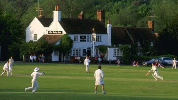 Village cricket at Tilford in Surrey