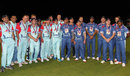 The Help for Heroes team and the Rest of the World XI at the end of the Cricket for Heroes charity match at The Oval, London, September 17, 2015