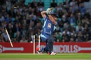 Graeme Smith is bowled by Darren Gough, London, September 17, 2015