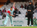 Darren Gough sends down a delivery in the Cricket for Heroes charity match, London, September 17, 2015