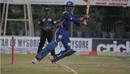 Mohammed Taha plays the cut, Hubli Tigers v Mangalore United, KPL 2015, Mysore, September 18, 2015