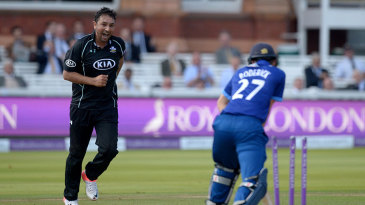 Azhar Mahmood picked up two wickets during a miserly spell