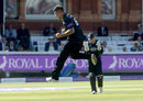 Jade Dernbach finished the innings with a hat-trick, Gloucestershire v Surrey, Royal London Cup final, Lord's, September 19, 2015