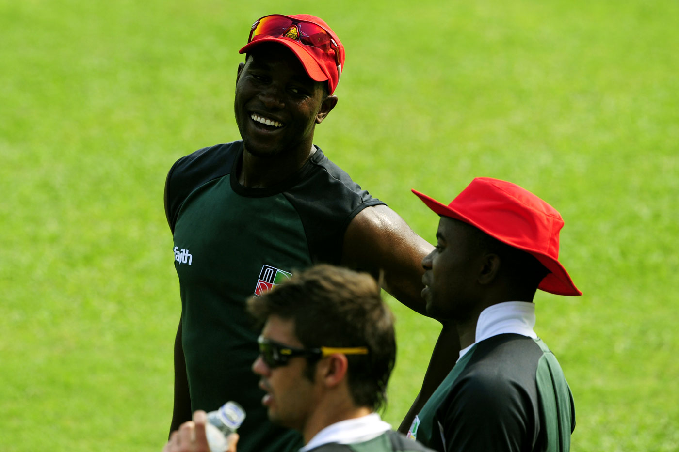 According to the cricketers' association representative Eliah Zvimba, his relationship with the Zimbabwe players strained when he refused to employ the wives of Utseya (right), Vusi Sibanda and Elton Chigumbura (left) at the ZPCA