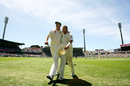 Shane Warne and Glenn McGrath walk off the field, Australia v England, 5th Test, Sydney, January 5, 2007