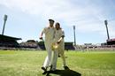 Shane Warne and Glenn McGrath walk off the field, Australia v England, 5th Test, Sydney, January 5, 2007