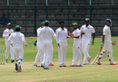Shuvagata Hom picked up four wickets, Karnataka v Bangladesh A, Mysore, 2nd day, September 23, 2015