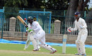 Shuvagata Hom nudges one on the leg side during his half-century, Karnataka v Bangladesh A, Mysore, 3rd day, September 24, 2015
