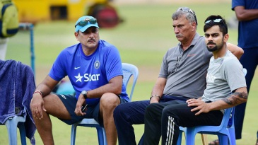 Brains trust: Ravi Shastri, Roger Binny, and Virat Kohli during the preparatory camp