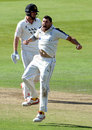 Tim Bresnan roars in celebration, Yorkshire v Sussex, County Championship, Division One, Headingley, 4th day, September 25, 2015