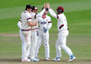 Tom Cooper claimed his best first-class bowling fiigures, Somerset v Warwickshire, County Championship, Division One, Taunton, 4th day, September 25, 2015