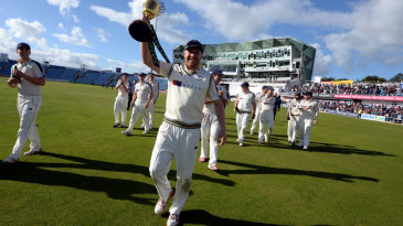 Andrew Gale parades the Championship trophy