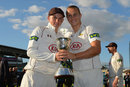 Sam and Tom Curran pose with the Division Two trophy, Surrey v Northamptonshire, County Championship, Division Two, 4th day, September 25, 2015