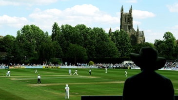 A general view of the action at New Road