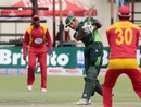Sohaib Maqsood hits down the ground, Zimbabwe v Pakistan, 2nd T20I, Harare, September 29, 2015