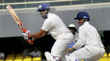 Shishir Bhavane held Karnataka's innings together with a patient 65