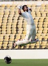Aditya Shanware celebrates his hundred on debut, Vidarbha v Odisha, Ranji Trophy 2015-16, Group A, Nagpur, 1st day, October 1, 2015