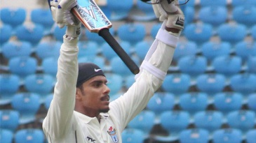 Govinda Podder celebrates his second first-class century