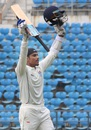 Govinda Podder celebrates his second first-class century, Vidarbha v Odisha, Ranji Trophy 2015-16, Group A, Nagpur, 3rd day, October 3, 2015