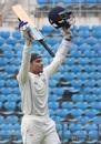 Govinda Podder celebrates his second first-class century, Vidarbha v Odisha, Ranji Trophy 2015-16, Group A, Nagpur, 3rd day, October 3, 2015